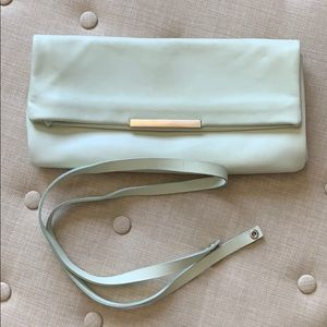 Zara Mint Color Cowhide Clutch